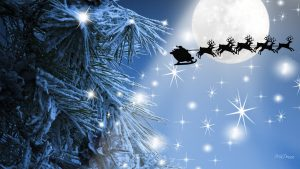 winter navidad feliz moon sleigh firefox stars snow beam persona tree christmas santa sky clause santas reindeer night flight xmas full hd